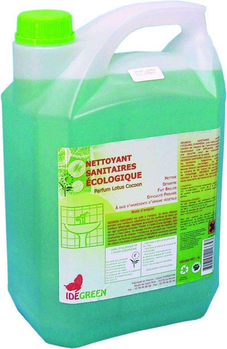 Idegreen nettoyant sanitaire ecologique le bidon de 5 for Produit de lustrage professionnel