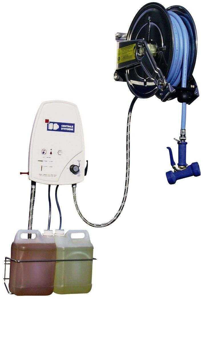 centrale de nettoyage et desinfection 2 produits enrouleur inox de 10 r 20metres. Black Bedroom Furniture Sets. Home Design Ideas
