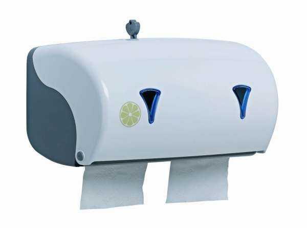 Double distributeur de papier hygienique en rouleau - Distributeur de rouleaux de papier cuisine ...