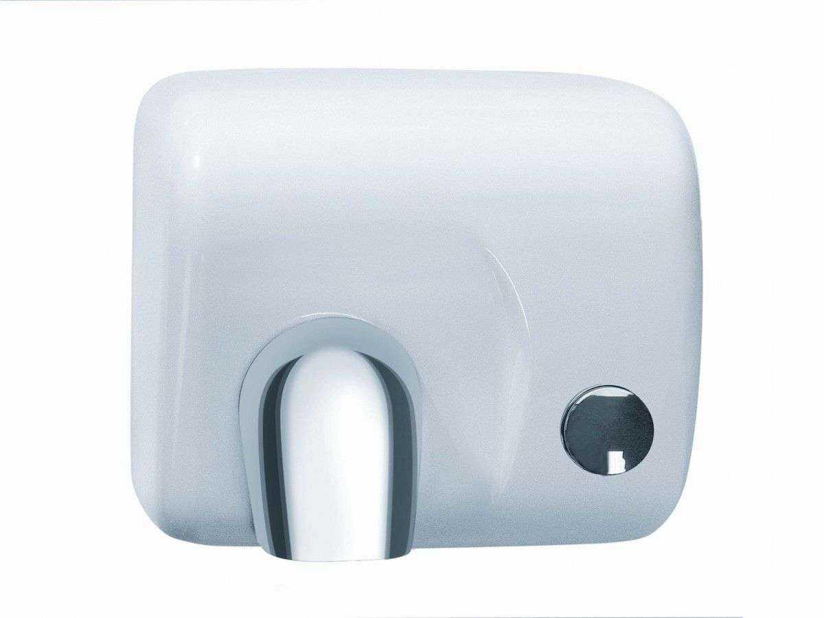 seche mains a bouton acier blanc 2300w. Black Bedroom Furniture Sets. Home Design Ideas