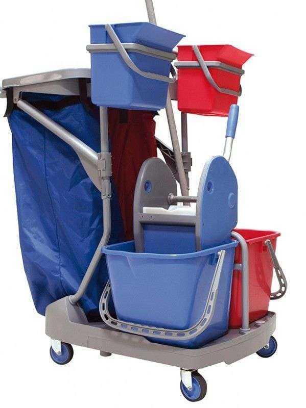 Chariot de menage et de lavage compact 35ep for Chariot de menage