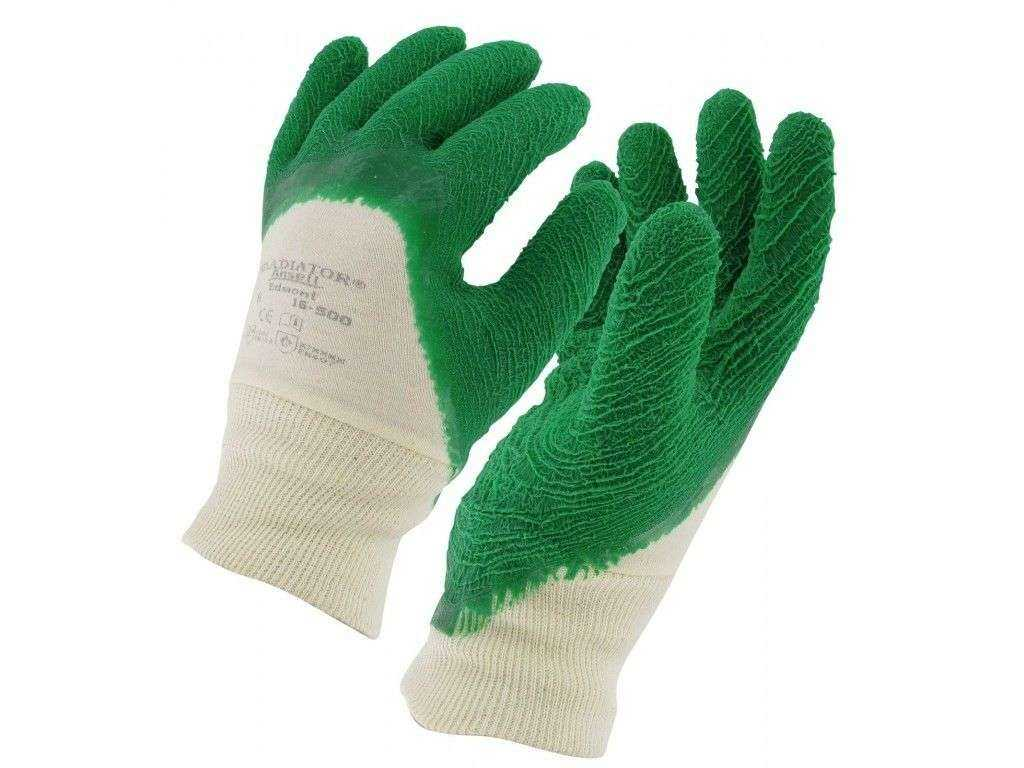 paire de gants de manutention jardiange vert floque taille l. Black Bedroom Furniture Sets. Home Design Ideas